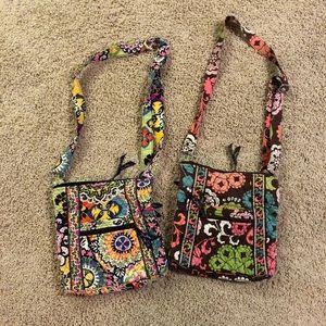 Bundle of two Vera Bradley crossbody bags.